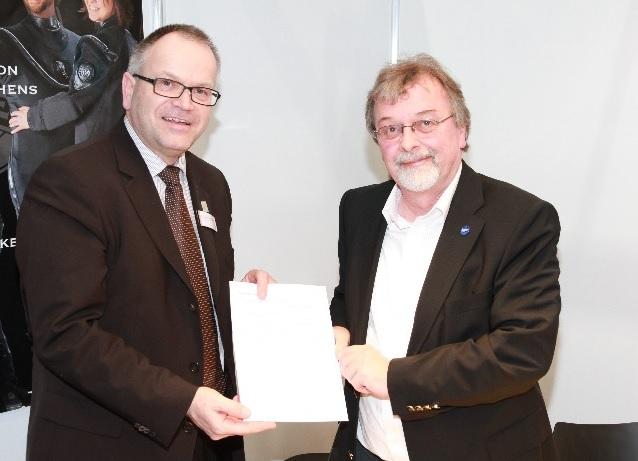 Prof. Franz Brümmer und Werner Thomaier