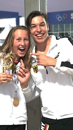 Zwei Mal GOLD für Johanna Schikora über 400 und 1500 Meter FS und SILBER über 800 Meter FS. Sowie zwei Deutsche Jugendrekorde von Luis Büttner über 50 und 100 Meter FS. / Foto: VDST